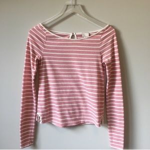 Anthropologie Postage Stamp Striped Blouse